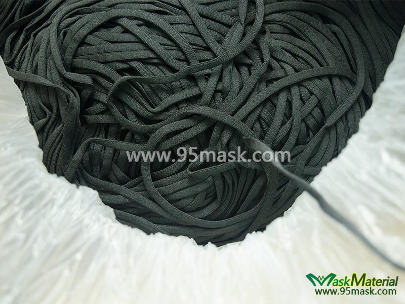 Black Flat Elastic Band Elastic Straps For Mask Mask Material