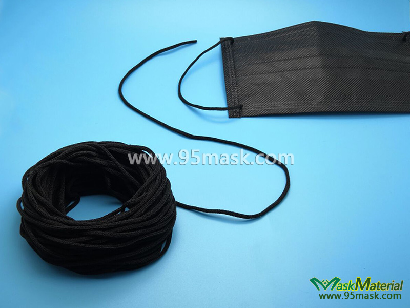 Black Round Elastic Band For Face Mask Mask Material